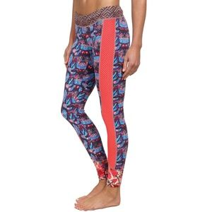 Maaji Blooming the Sky Iris Peony Workout Leggings